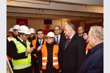 President Igor Dodon, along with the former Ambassador of Turkey to Moldova, Hulusi Kılıç, started the works of repair of the Moldovan Presidency's building'