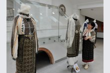 The exhibition of traditional Romanian costumes'