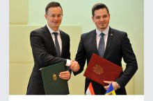 The meeting of Foreign and European Integration Minister, Tudor Ulianovschi and Hungarian Foreign and Trade Minister, Péter Szijjártó'