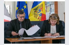 Signing a Cooperation Agreement between the National Library and the Italian Cultural Centre from Moldova'