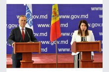 Deputy Prime Minister for Reintegration Cristina Lesnic and Special Representative of the OSCE Chairperson-in-Office for the Transnistrian Settlement Process Franco Frattini held a news conference'