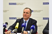 The  press conference with the participation of the Special Representative of OSCE President–in–Office Franco Frattini and the Head of OSCE Mission to Moldova, Ambassador Michael Scanlan '