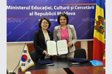 The Memorandum of Understanding on ICT cooperation is signed between Jeju Provincial Government Education Office of South Korea and the Ministry of Education, Culture and Research of Moldova'