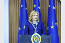 Prime Minister Pavel Filip and European Commissioner for Regional Polices Corina Cretu gave a news conference'