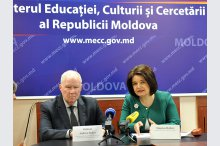 Press briefing on progress in implementing the Action Plan of Moldova in education and commemorating the Holocaust'