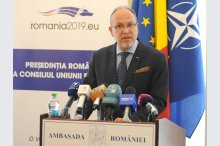 The news conference given by Romanian Ambassador Daniel Ionita, focused on the holding of the European Parliament election in Romania and national referendum'