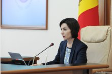 Prime Minister Maia Sandu chairs a cabinet meeting  '