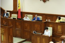 Moldova's parliament holds a plenary meeting'