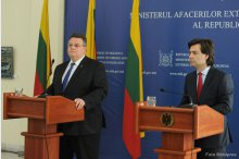 News conference held by Foreign Affairs and European Integration Minister Nicu Popescu and Foreign Affairs Minister of Lithuania Linas Linkevičius '