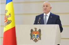 Chiril Motpan holds a news conference on details concerning the hearing of insti-tutions involved in the expulsion of Turkish citizens from Moldova '