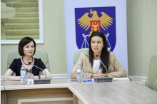 Justice Minister Olesea Stamate holds a news conference to present the reform in the justice sector    '