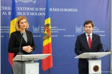 Press statements made by Moldova's Foreign Affairs and European Integration Minister Nicu Popescu and Foreign Affairs Minister of Romania Ramona Manescu'
