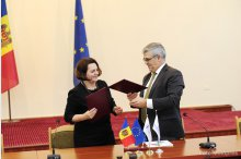 Ceremony on the signing of an agreement on loan between the European Investment Bank (EIB) and Moldova's government, on the improvement of the solid waste management services in the country   '