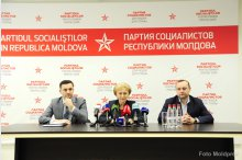 News conference held by the leader of Moldova's Party of Socialists, Zinaida Greceanii'