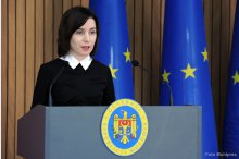 Prime Minister Maia Sandu holds news briefing'