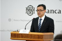 National Bank's governor Octavian Armasu holds news briefing on inflation report '