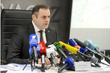 Chairman of Board of Directors of Moldovagaz company Vadim Ceban holds news conference'