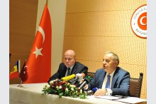 New Turkish ambassador to Moldova, gave a press conference.'